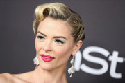 Jaime King went vintage-glam with this updo at the InStyle and Warner Bros. Golden Globes after-party.
