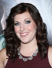 Allison Tolman sported classic mid-length curls at the screening of 'Krampus.'