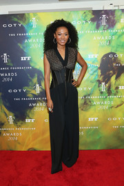 Judith Hill was equal parts funky and chic in a black jumpsuit with a corseted bodice during the Fragrance Foundation Awards.