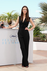 Charlotte Le Bon chose a sleek and elegant black jumpsuit for the 'Inside Out' photocall.