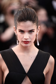 Sara Sampaio topped off her look with a girl-next-door ponytail when she attended the 'Inside Out' premiere in Cannes.
