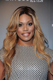 Laverne Cox looked lovely with her long, gently wavy 'do at the InStyle 20th anniversary party.