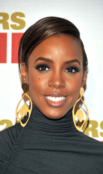 Kelly Rowland Celebrity Black Hair Styles Pictures Stylebistro