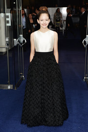 Mackenzie Foy looked like a princess in her embellished black-and-white gown at the 'Interstellar' London premiere.