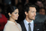 Camila Alves gave us bling envy with her gemstone cluster studs at the London premiere of 'Interstellar.'