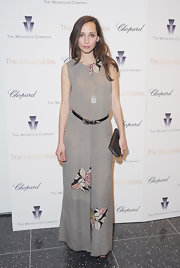 Rebecca Dayan looked casually elegant in this loose floral maxi-dress at the 'Intouchables' screening.
