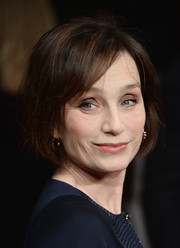 Kristin Scott Thomas attended the premiere of 'The Invisible Woman' wearing a classic bob.