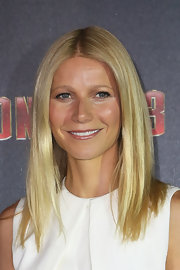 Gwyneth Paltrow topped off her dewy, glowing look with a softy shiny lip.