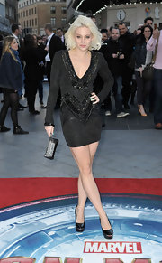 Kimberley Wyatt stepped out in a dazzling beaded black frock at the 'Iron Man 2' screening in London.