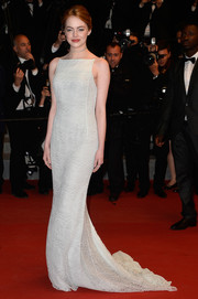 Emma Stone's Christian Dior Couture lace gown at the 'Irrational Man' premiere in Cannes was oh-so-elegant in its simplicity.