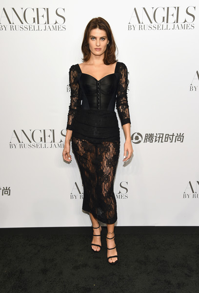 Isabeli Fontana Strappy Sandals [clothing,dress,fashion model,shoulder,fashion,cocktail dress,hairstyle,little black dress,joint,footwear,arrivals,cindy crawford,candice swanepoel host angels,russell james,isabeli fontana,angels,stephan weiss studio,russell james book launch and exhibit,exhibit,book launch]