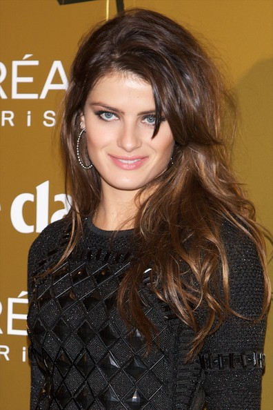 Isabeli Fontana Long Straight Cut with Bangs