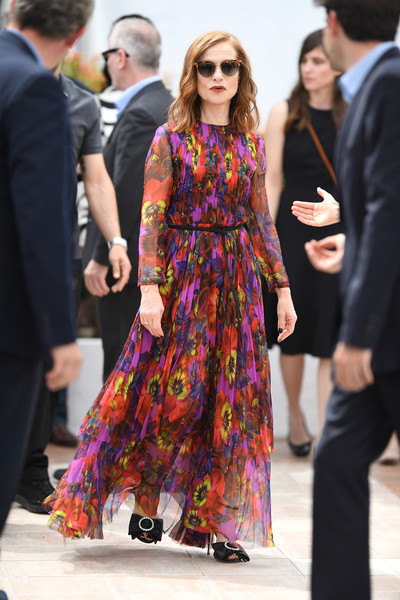 Isabelle Huppert Print Dress