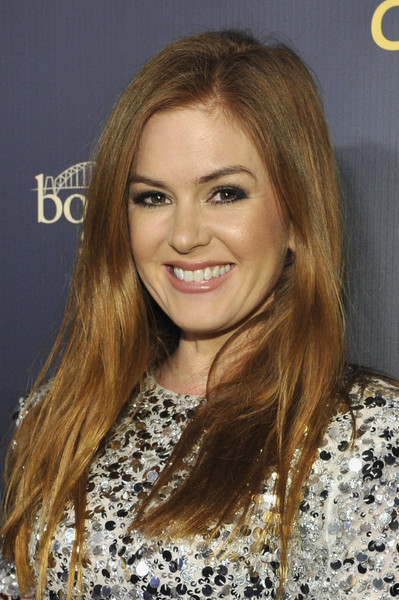 Isla Fisher Long Straight Cut [hair,blond,hairstyle,face,eyebrow,long hair,brown hair,hair coloring,layered hair,beauty,3labs,culver city,california,2019 gday usa gala,isla fisher]