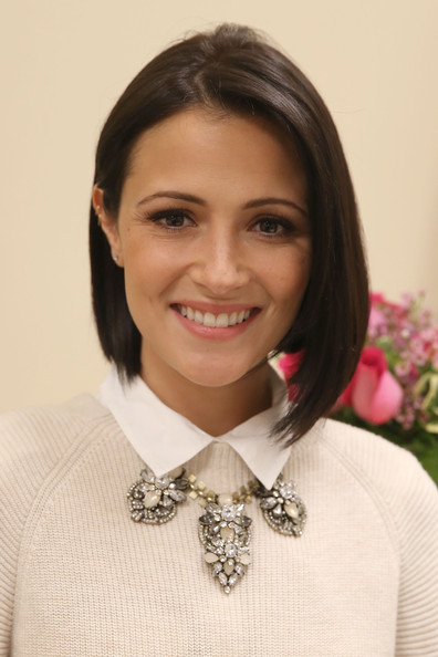 Italia Ricci Graduated Bob [jcp salon to support ``cuts for hope,hair,hairstyle,fashion accessory,neck,smile,bow tie,white-collar worker,tie,formal wear,black hair,italia ricci,breast cancer program,glendale,california,city of hope]