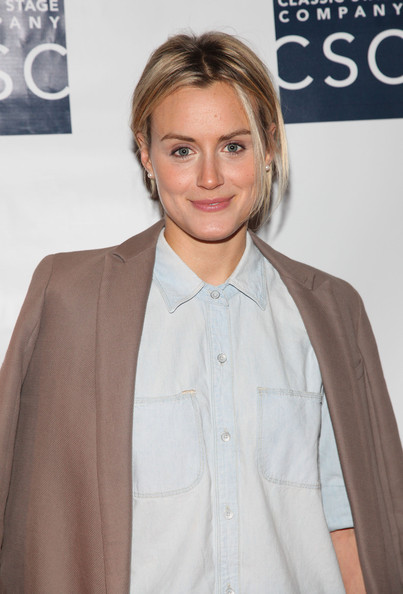 More Pics of Taylor Schilling Blazer (1 of 2) - Taylor Schilling Lookbook - StyleBistro [hair,hairstyle,eyebrow,forehead,blond,premiere,long hair,lip,outerwear,brown hair,ivanov opening night lights back on celebration,ivanov opening night lights back on celebration at classic stage company,new york city,taylor schilling]