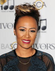 Emeli Sande rocked an anime-inspired fauxhawk at the Ivor Novello Awards.