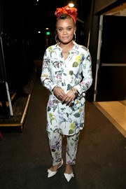 Andra Day made an appearance at the JDRF Imagine Gala wearing a floral shirtdress and matching pants.