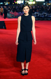 Keira Knightley wore a black fitted dress by Proenza Schouler to the London premiere of 'Jack Ryan: Shadow Recruit.'
