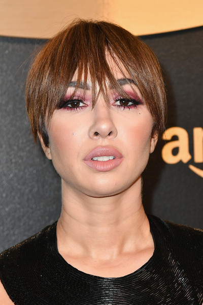 Jackie Cruz Bowl Cut [hair,face,hairstyle,bangs,eyebrow,chin,lip,forehead,bob cut,hair coloring,arrivals,jackie cruz,beverly hills,california,the beverly hilton hotel,amazon studios,amazon studios golden globes celebration]