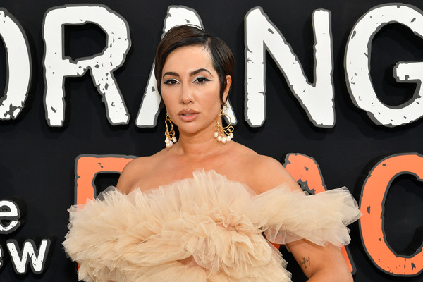 Jackie Cruz Short Side Part [orange is the new black,season,beauty,skin,fashion,premiere,fur,dress,fashion accessory,flooring,ear,jackie cruz,new york city,netflix,premiere,afterparty 2019,world premiere screening]