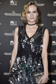 Diane Kruger attended the Jaeger-LeCoultre gala dinner at the Venice Film Festival wearing a classic diamond bracelet.