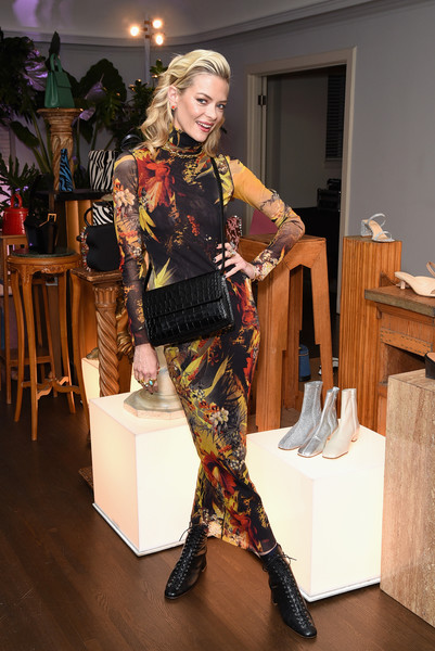 Jaime King Lace Up Boots