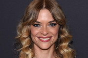 Jaime King Medium Curls with Bangs
