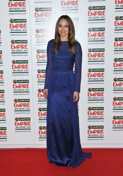 Laura Haddock Wore Alberta Ferretti at the 2013 Jameson Empire Awards
