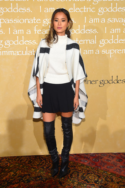 Jamie Chung Over the Knee Boots