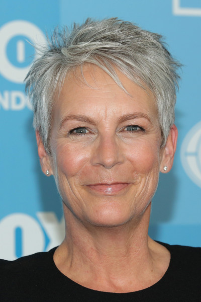 Jamie Lee Curtis Pixie [face,hair,eyebrow,chin,forehead,hairstyle,head,blond,nose,cheek,jamie lee curtis,red carpet,programming presentation,wollman rink,new york city,central park,fox]