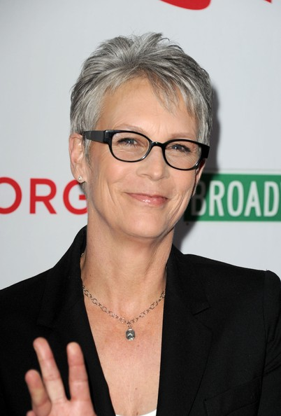 Jamie Lee Curtis Pixie [eyewear,hair,glasses,forehead,vision care,official,premiere,white-collar worker,jamie lee curtis,wilshire ebell theatre - arrivals,the wilshire ebell theatre,california,los angeles,the american foundation for equal rights broadway impact,premiere,premiere]
