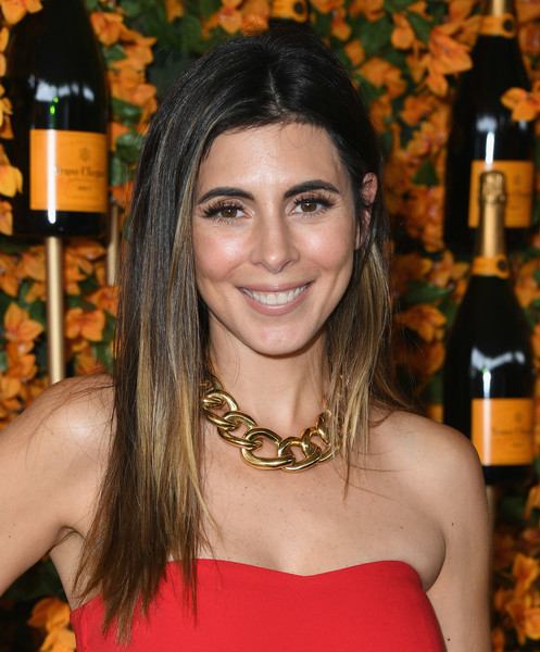 Jamie-Lynn Sigler Ombre Hair [hair,hairstyle,beauty,eyebrow,black hair,long hair,brown hair,liqueur,smile,alcohol,arrivals,jamie-lynn sigler,los angeles,pacific palisades,california,will rogers state historic park,veuve clicquot polo classic]