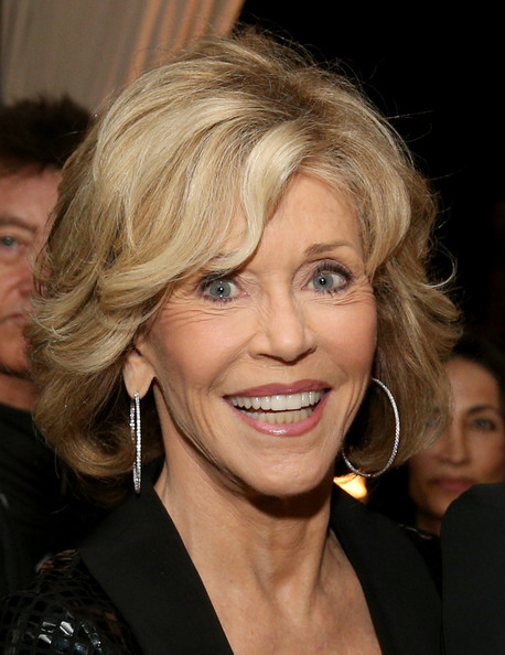 Jane Fonda Bob [hair,face,hairstyle,blond,facial expression,eyebrow,chin,layered hair,smile,lip,jane fonda,audi special tribute: an evening with david o. russell,tribute,egyptian theatre,hollywood,california,afi fest,reception,reception,an evening with david o. russell]