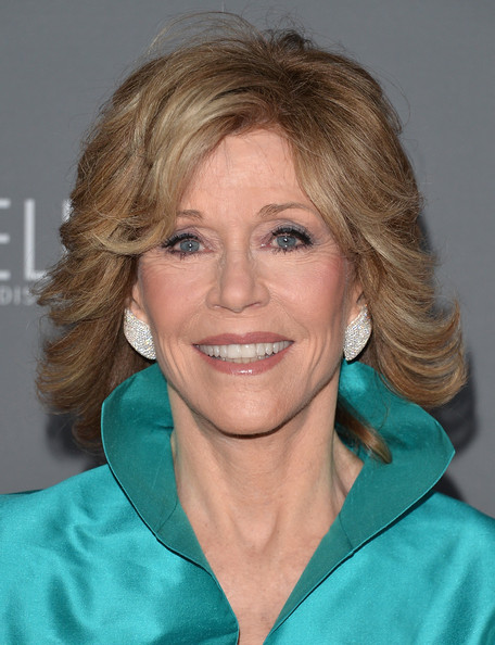 Jane Fonda Short Wavy Cut [hair,face,blond,hairstyle,chin,smile,surfer hair,brown hair,feathered hair,wrinkle,arrivals,jane fonda,walt disney concert hall,california,los angeles,walt disney concet hall,10th anniversary gala]
