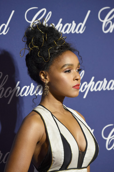 Janelle Monae Gold Chandelier Earrings