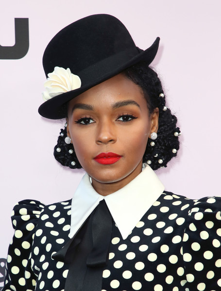 Janelle Monae Bowler Hat [clothing,polka dot,hat,pattern,lip,fashion accessory,headgear,design,retro style,black hair,janelle monae,beverly hills,california,beverly wilshire four seasons hotel,essence black women in hollywood awards luncheon,beverly wilshire a four seasons hotel,hollywood,four seasons hotels and resorts,hotel,photograph,photography,the beverly hilton,image,stock photography]