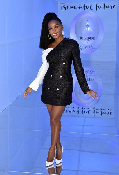 Janelle Monae Pumps [a beautiful future,photo,clothing,dress,fashion model,fashion,blue,cocktail dress,beauty,footwear,electric blue,little black dress,limited edition bottle,janelle mon\u00e1e,x,the tisch skylights,new york,the shed,belvedere vodka,launch]