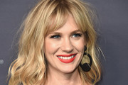 January Jones Medium Wavy Cut with Bangs