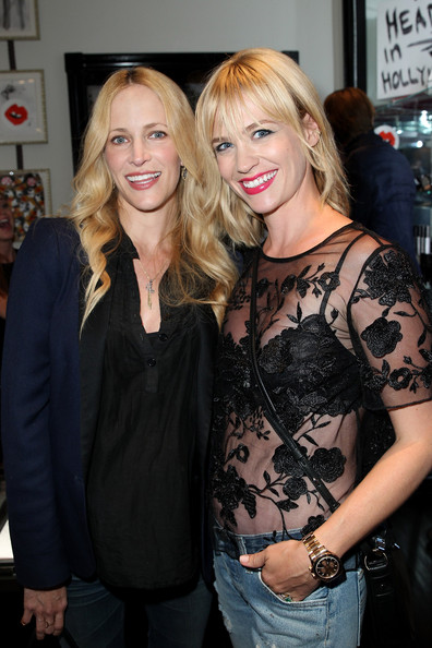 January Jones Sheer Top [blond,fashion,event,long hair,premiere,smile,donald robertson tt violet grey melrose place,california,los angeles,cassandra huysentruyt grey hosts artist in residence,guest,r,january jones]
