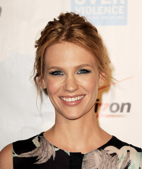 January Jones Messy Updo []