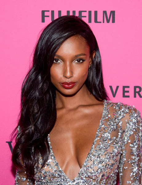 Jasmine Tookes Long Wavy Cut [hair,hairstyle,eyebrow,long hair,beauty,brown hair,black hair,lip,hair coloring,eyelash,carpet arrivals,jasmine tookes,new york city,tao downtown,victorias secret fashion after party]