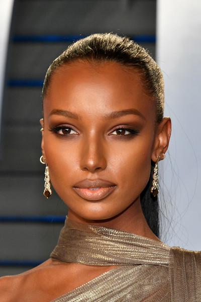 Jasmine Tookes Ponytail [oscar party,vanity fair,hair,eyebrow,face,hairstyle,lip,fashion,beauty,skin,forehead,nose,beverly hills,california,wallis annenberg center for the performing arts,radhika jones - arrivals,radhika jones,jasmine tookes]