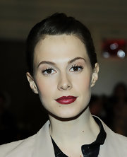Elettra Weidemann looked simply flawless with her hair pulled back in a sleek updo at the Jason Wu fashion show.