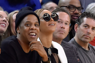 Jay-Z Beyonce Knowles Oklahoma City Thunder v Golden State Warriors