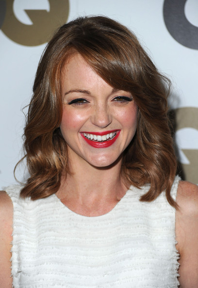 Jayma Mays Medium Curls [gq,men of the year,hair,face,hairstyle,lip,eyebrow,blond,beauty,brown hair,chin,skin,party - arrivals,jayma mays,california,los angeles,chateau marmont,party]