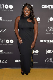 Danielle Brooks went modern in a black gown with an asymmetrical neckline for the Jazz at Lincoln Center 2017 Gala.