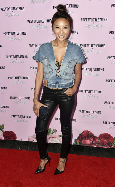 Jeannie Mai Leather Pants