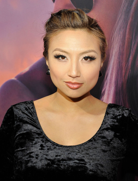 Jeannie Mai Pompadour [the choice,hair,face,eyebrow,hairstyle,lip,beauty,fashion,chin,purple,forehead,jeannie mai,california,hollywood,arclight cinemas,lionsgate,red carpet,premiere,premiere]