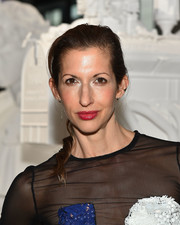 Alysia Reiner sported a casual ponytail at the Jeff Koons x Google event.